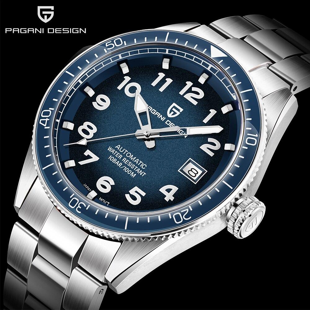 PAGANI Design 2020 Luxury Business Sport Mechanical Wristwatch Brand Men Watches Automatic Stainless Steel Waterproof Watch Men