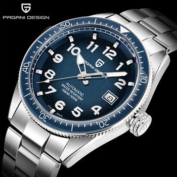 PAGANI projekt 2020 luksusowe biznes Sport zegarek mechaniczny markowe zegarki męskie automatyczne ze stali nierdzewnej wodoodporny zegarek mężczyzn tanie i dobre opinie PAGANI DESIGN 10Bar Składane zapięcie z bezpieczeństwem Pływanie Mechaniczna Ręka Wiatr Automatyczne self-wiatr 24cm