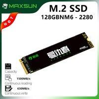 MAXSUN pełny nowy M.2 2280 SSD 128GB 3D NAND Flash wewnętrzne dyski półprzewodnikowe PCIe3.0 x4 M.2 laptop pulpit pamięć wewnętrzna