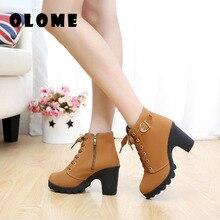 women high heels spring boots 2020 sexy high heels ladies shoes women pumps side zipper pumps femeal warm boots