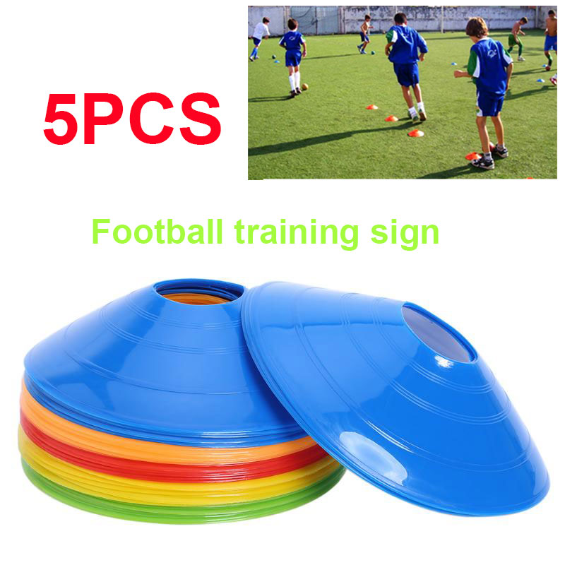 Convenient Football Training  Barrier Marker Cones 5pcs PE Soccer Marker Disc Beginner Prop Sport Marking Lawn