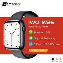 Zurexa IWO W26 Смарт-часы для мужчин и женщин, напоминание о вызове Ip68 Водонепроницаемый IWO 12 умные часы для мужчин ЭКГ шагомер часы для IOS и Android