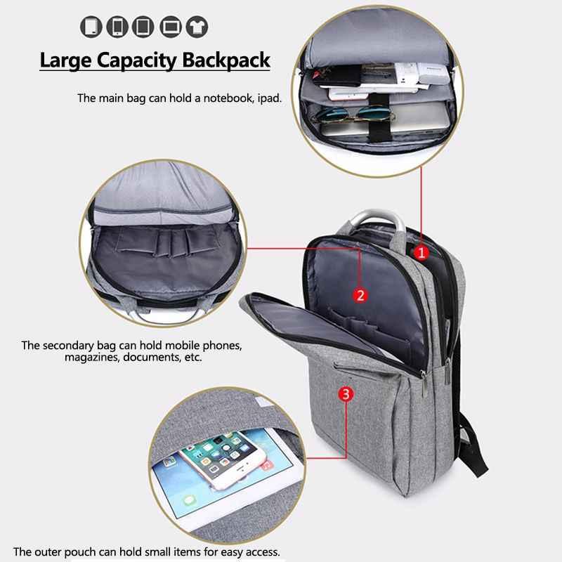 """Mannen Multifunctionele Laptop Tas Anti Diefstal Rugzak 15.6 16.1 """"PC Notebook Case Waterdichte Schooltas Business Reistassen"""