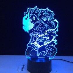 Светодиодный ночной Светильник Hunter X аниме, Killua Zoldyck, ночник с изменением цвета, Usb аккумулятор, Настольная 3d лампа, подарок, Прямая поставка