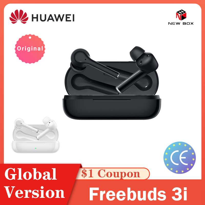 Глобальная версия HUAWEI FreeBuds 3i 3 i TWS Bluetooth, беспроводные наушники С Подавлением Шума, 3-микрофонная система ANC для P40 Lite