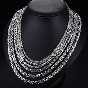 men necklace stainless steel c