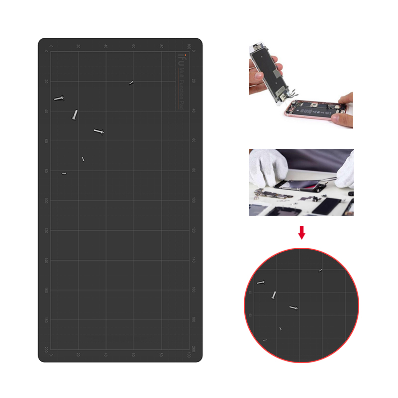 IFU 220x120mm Magnetic Screw Mat Phone Tablet Repair Tools Screws Storage Mat Memory Working Pad For Iphone For Xiaomi Samsung
