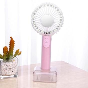Портативный хрустальный вентилятор мини Usb Ночник светильник креативный ручной зеркальный маленький вентилятор