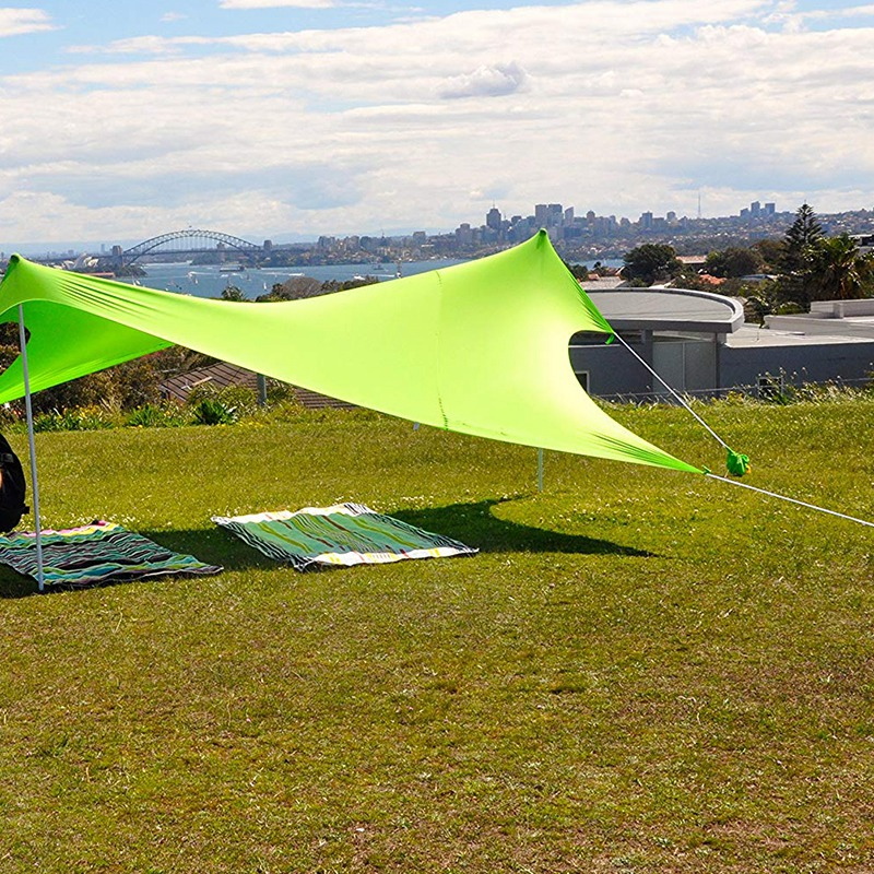 210x210 cm ao ar livre praia kale dossel sombra tenda de acampamento legal protetor solar uv dossel portátil barraca de pesca de acampamento - 2