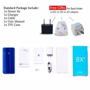 Image 5 - Orijinal onur 8X cep telefonu 6.5 inç 6GB 128GB Kirin 710 Octa çekirdek Android 9.0 3750mAh parmak izi kilidini Google Play store