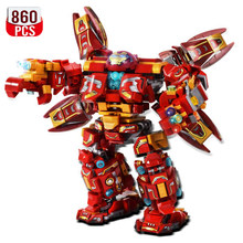 1450PCS Creator War Super Armor Robot Building Blocks Military Warrior Mecha Figures Weapon Bricks Toys Gift Man For Children