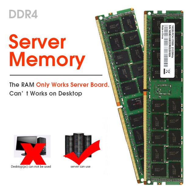 DDR4 ECC REG Memory 4GB 8GB 16GB 32GB 2133MHZ 2400MHZ  RAM Support X99 Motherboard And X99dual MainBoard