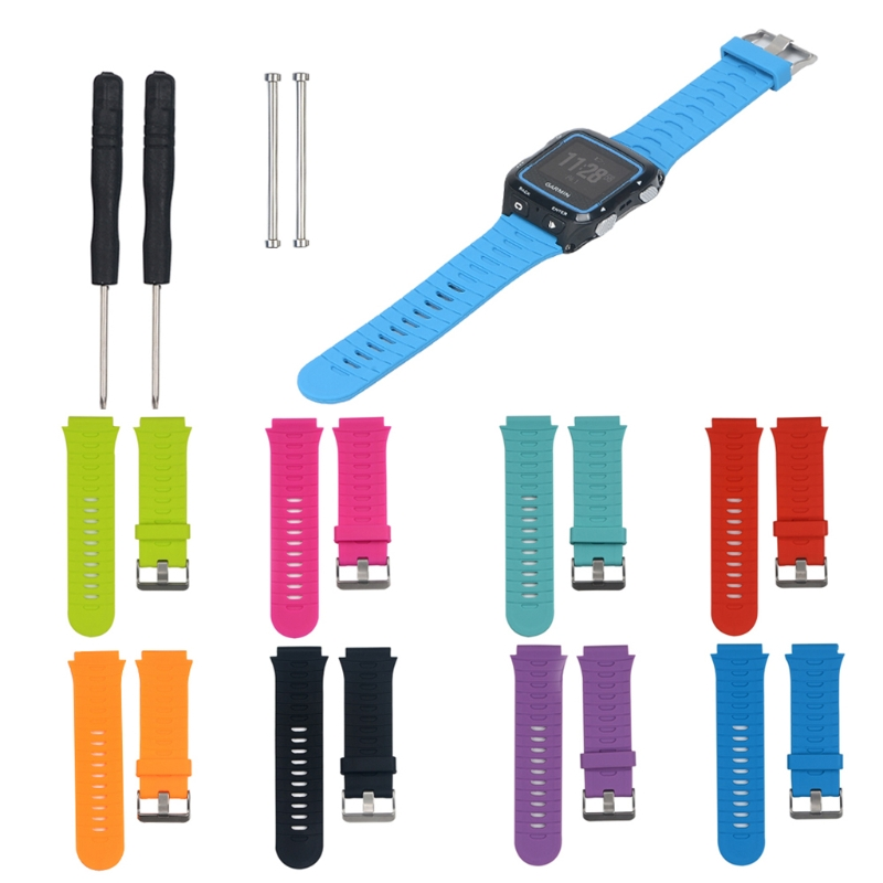 Colorful Silicone Wrist Strap Band for Garmin Forerunner 920XT Strap with Original Srews+Utility Knife Smart Watch Wristband image