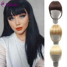 AILIADE Clip In Hair Bangs Hairpiece Synthetic Fake Bangs Ha