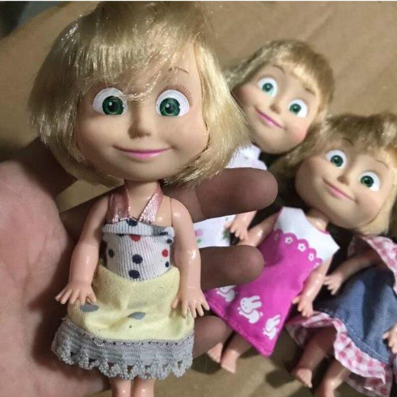 Cute Girl Dolls Masha 12.5cm Kids Toys Home Decoration Birthday Gift Bonecas American Girl Doll