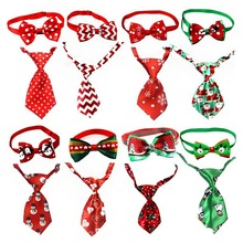 Christmas Holiday Pet Dog Cat Collar Bowknot Tie Adjustable Neck Strap Cat Puppy