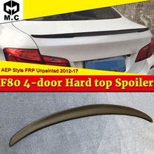 For BMW F80 M3 Spoiler Tail Wing FRP Unpainted AEP Style 3-Series 325i 328i 330i 4-Door Hard Top sedan duckbill 2012-17