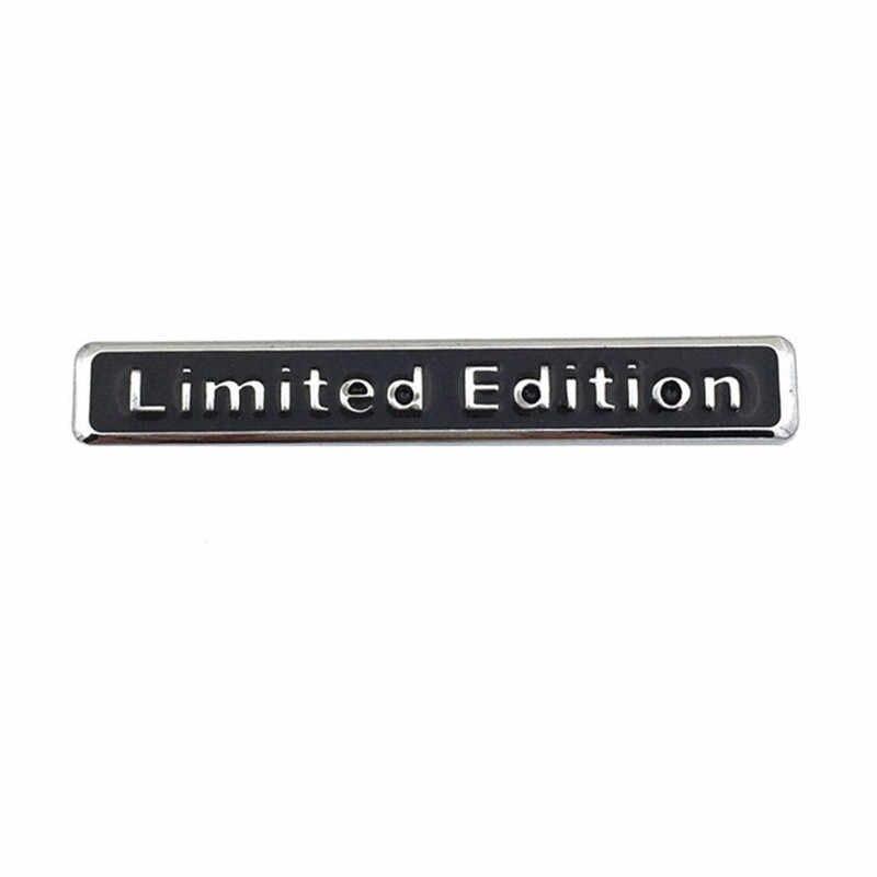 3D Chrome noir métal autocollant édition limitée emblème Badge Logo moto décalcomanie pour Audi Q3 A4 Q5 A6 A4L A6L R8 Q7 voiture style