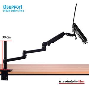 Image 2 - Aluminium Desktop Mount Ultra Lange Arm Dual Gebruik Laptop Bureau/Tablet Monitor Houder Arm Full Motion notebook Beugel