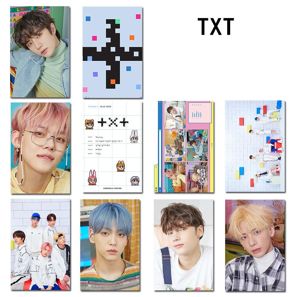 10pcs/set Kpop TXT Crystal Card sticker minisode1 blue hour bus card bank card sticker soobin Taehyun 1