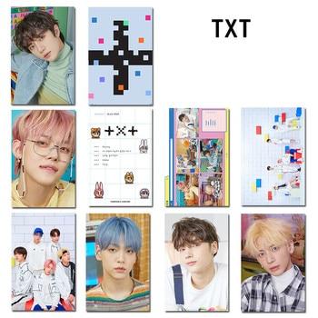 10pcs/set TXT Crystal Photocard