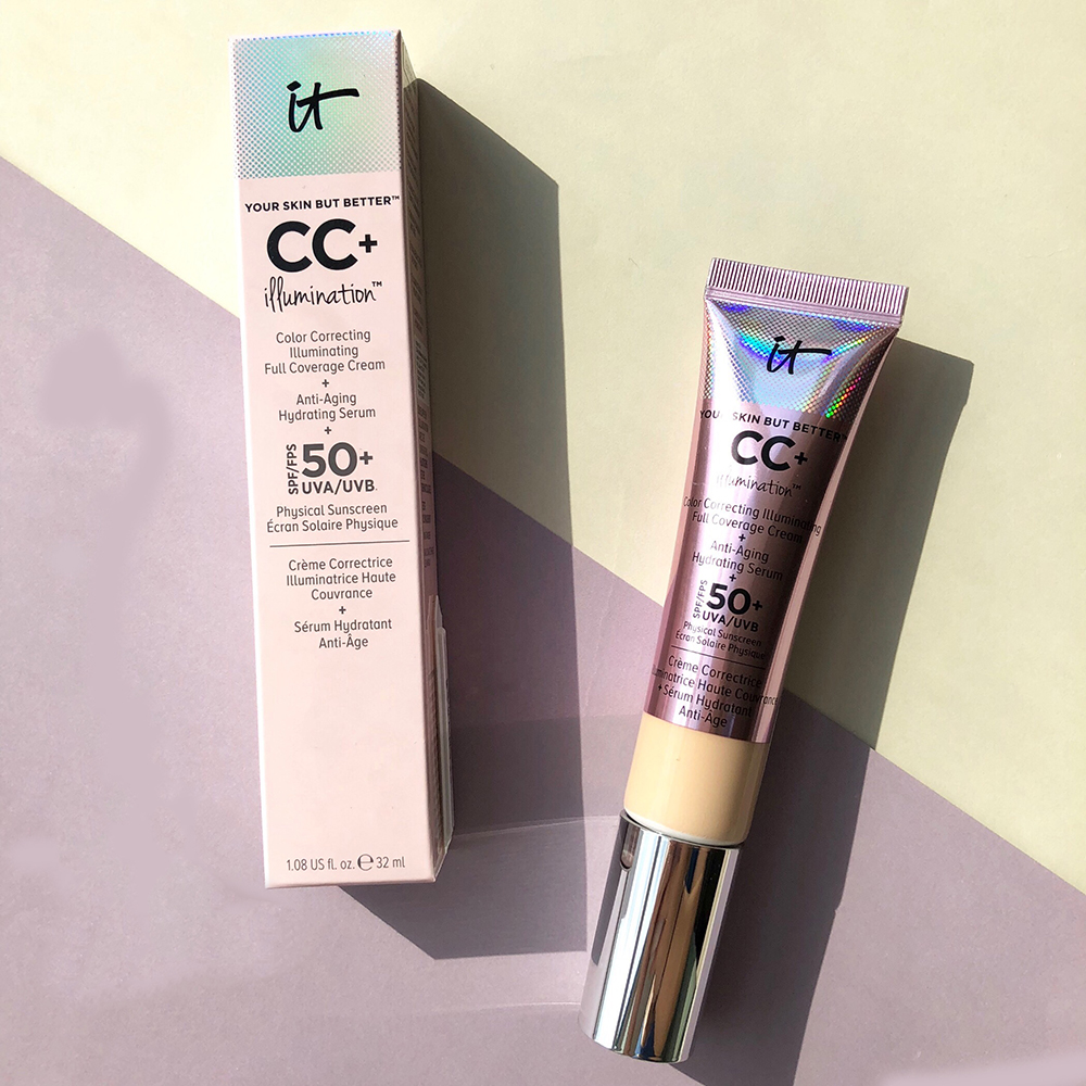 Face Concealer It Cosmetics CC+ Cream 32ml Long Lasting Isolation SPF 50+ Makeup Face Base Liquid Foundation Make Up Whitening| | - AliExpress