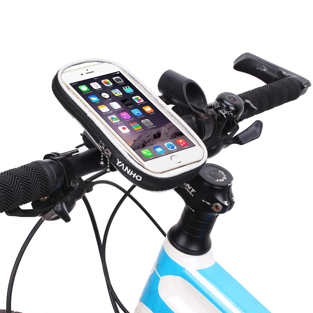 Waterproof Front Cycling <font><b>Bike</b></font> <font><b>Bag</b></font> Mobile Phone Holder Touch Screen Bicycle Cell Phone <font><b>Bag</b></font> 4.7-5.5 inch Bicycle Accessories image