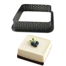 1PC Cake Mold Ring Mousse Circle Cutter Silicone Decorating Tool French Dessert DIY Cake Mold Perforated Ring Non Stick Bakeware