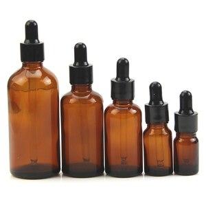 Image 3 - 5 100ML reaktif göz damlalık damla damla Amber cam aromaterapi sıvı pipet şişe doldurulabilir şişeler 35