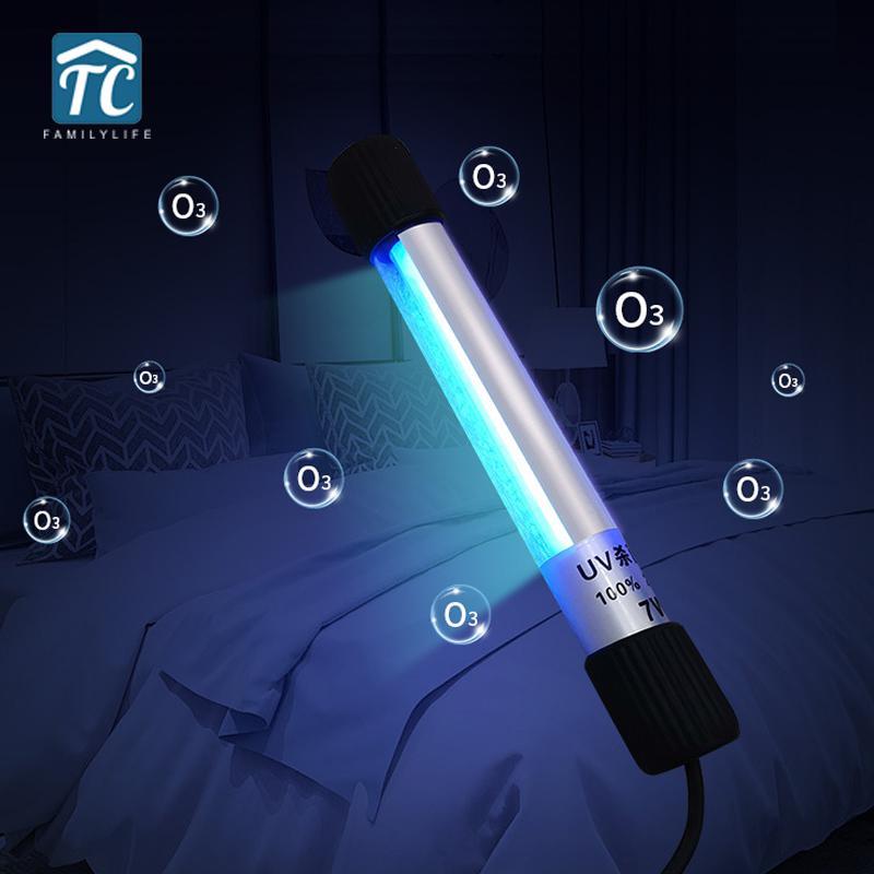 220V UV Sterilizer Light Home UV Lamp 254nm Germicidal Lamp Portable UVC Sterilization Lamp Disinfection Ultraviolet Flashlight