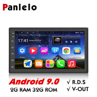 Panlelo S10 Plus 2 Din Android 9 Car Stereo 2G RAM 32G 7 1080P Autoradio Quad Core Android Head Unit GPS Navigation Audio Radio