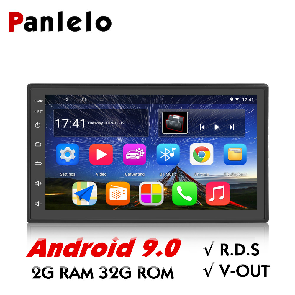 Panlelo S10 Plus 2 Din Android 9 Car Stereo 2G RAM 32G 7 1080P Autoradio Quad Core Android Head Unit GPS Navigation Audio Radio image