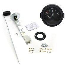 """2"""" 52mm Fuel Level Gauge Car Meter with Fuel Float Sensor White LED Light Black Rim Automotive Gauges 12V"""