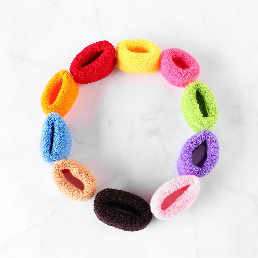 1 unid Color caramelo suave Goma de felpa bandas gran lazo de pelo ancho Cola de Caballo sostenedores del pelo elásticos accesorios para el cabello herramientas de estilismo
