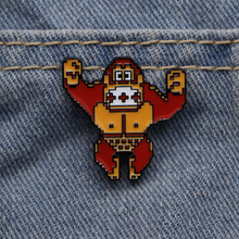 Jewelry Brooches Badge Donkey Kong Enamel-Pin Personalized-Hat/backpack Drop-Pins Gift