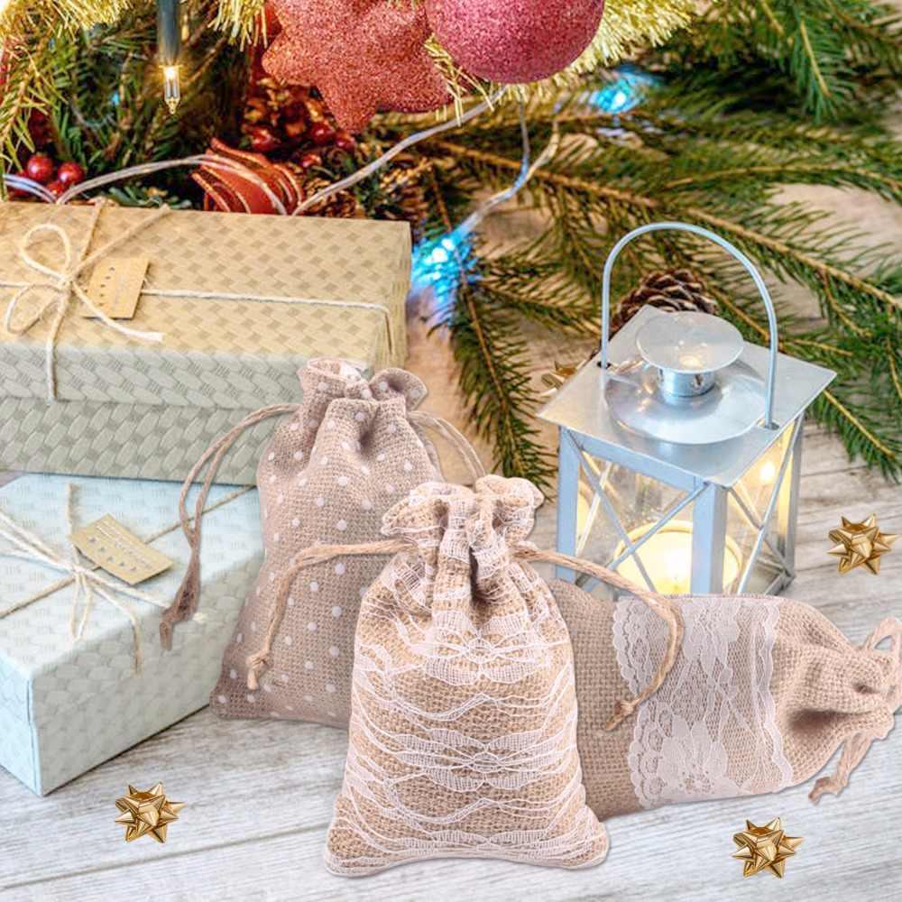 בציר הסיאן יוטה יוטה סרטי Bowknot דגל פרח לחתונה מסיבת חג המולד עיצוב הבית DIY מלאכות אביזרים