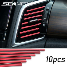 Car Stickers Interior Dashboard Air Outlet Vent Decoration Moulding Strips Universal Automobiles PVC Sticker on Cars Accessories