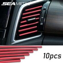 자동차 스티커 인테리어 대시 보드 공기 배출구 환기 장식 몰딩 스트립 범용 자동차 PVC 스티커 자동차 액세서리