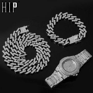 Watch +Chain+Bracelet Hip Hop