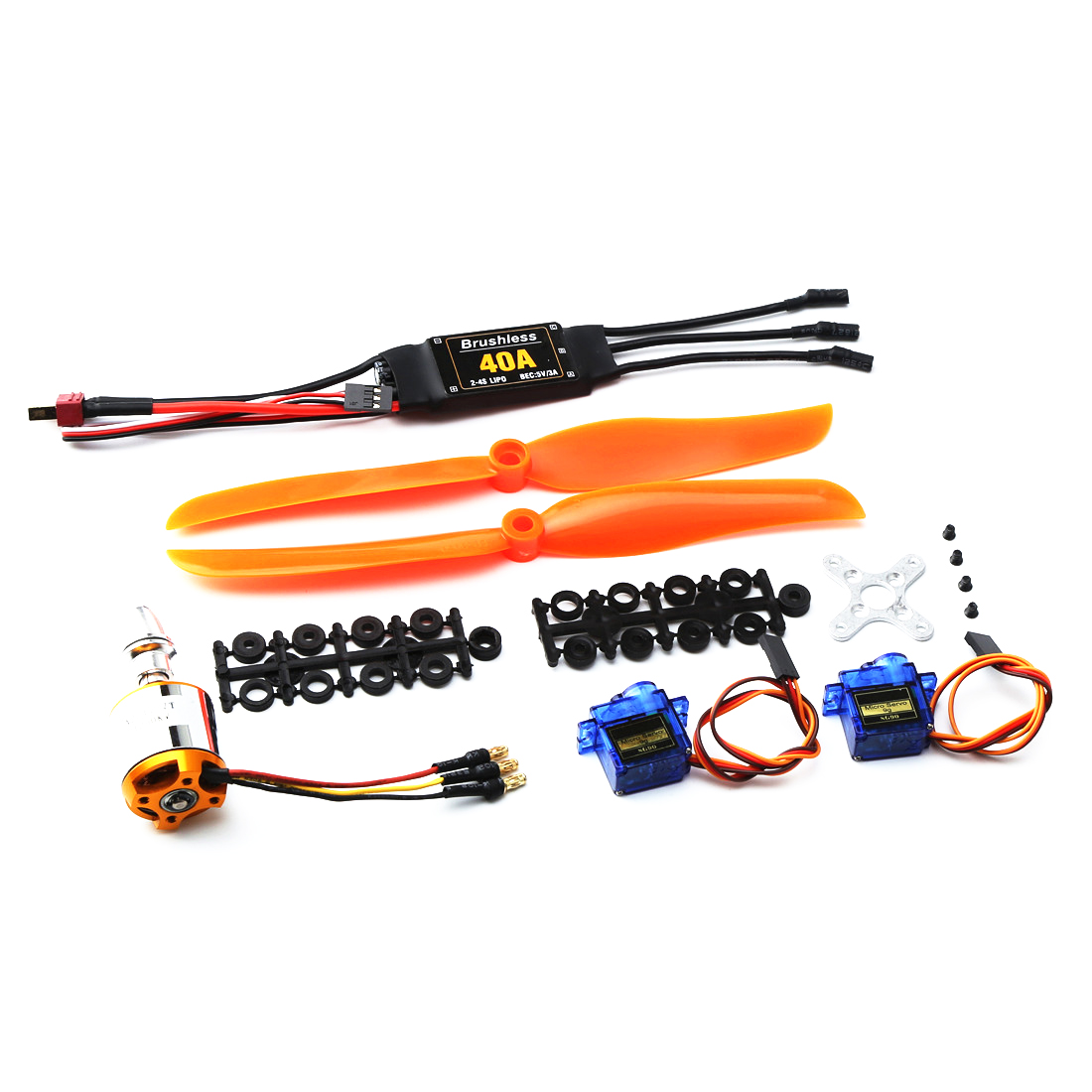 <font><b>2217</b></font> KV1250 motor+8060 propeller+9g steering gear+40A ESC kit for XXD RC Airplane Racing Drone image