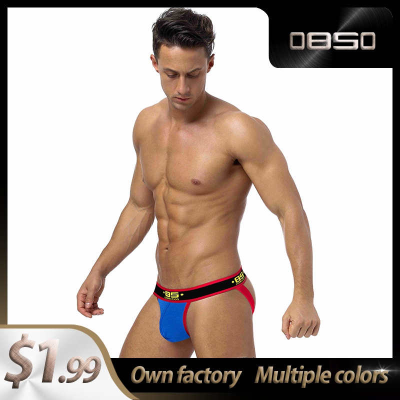 High Quality Solid Cotton Comfortable BS Gay Men Sexy Underwear Thong Men Jockstrap Men's Underwear Mens Thongs And G Strings