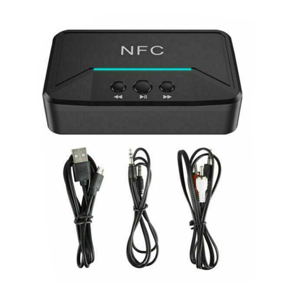 Bt200 profissional 3.5mm nfc bluetooth v5.0 conjuntos de receptor adaptador sem fio aux estéreo alta fidelidade o adaptador para o orador do carro