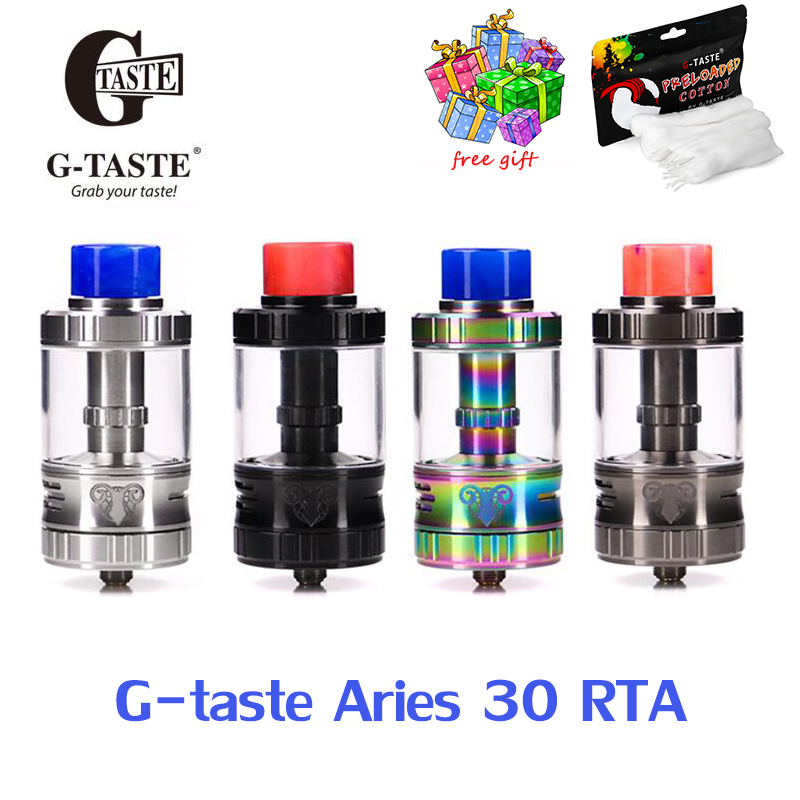 Free gift <font><b>Vape</b></font> tank G-taste Aries <font><b>30</b></font> RTA 10ml/6ml Unique screw AFC system 510 thread <font><b>Vape</b></font> Atomzier vs steam crave supreme v2 image