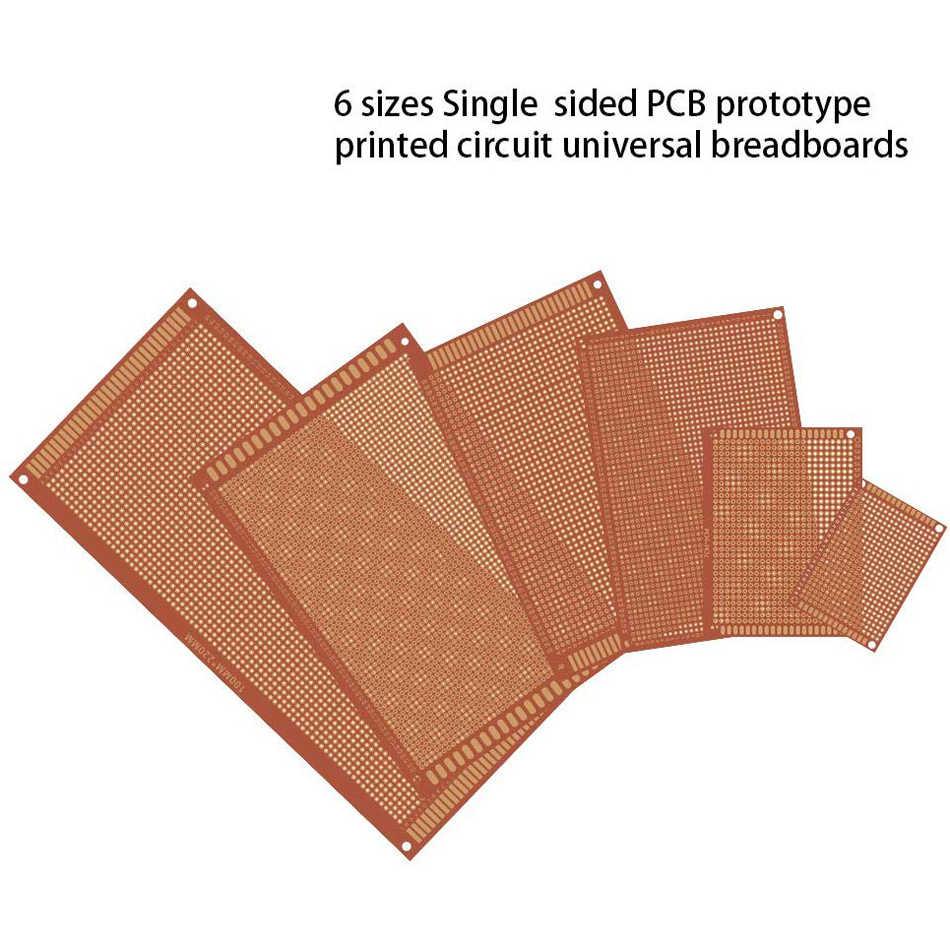 Bakélite PCB Carte Prototype Uncut Kit Pièces 5 Pièces Simple Face Pratique