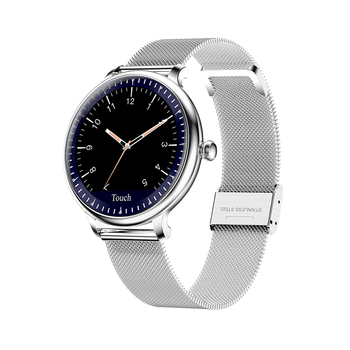 NY12 women smart watch Round Screen smartwatch for Girl Heart Rate monitor Smart Bracelet compatible For Android IOS WristWatch