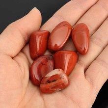 6 pçs 20mm-30mm vermelho jasper queda pedras polido pedra cura pedras preciosas de cristal tanque de peixes aquário decoração casa ornamento pedra