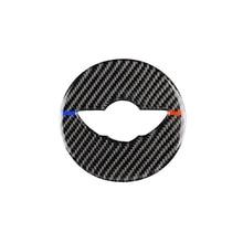 Car Interior Carbon Fiber Steering Wheel Decoration Cover Sticker for Mini Cooper F55 F56 F60 Automobile Styling Accessories недорого