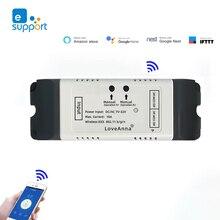 eWeLink 2CH WIFI Switch Garage Switch DC12V 24V 32V AC220V Dry Contact Switch NO COM NC Compatible With Google assistant & Alexa