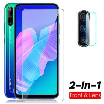 Перейти на Алиэкспресс и купить Закаленное стекло 2 в 1 для Huawei p40 lite e, Защитное стекло для huawei y7p P40 Lite E p40lite e, Взрывозащищенная защита экрана