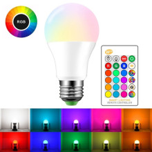 E27 Color Changing Light Bulb with Remote Control+Memory Function RGB RGBW RGBWW Led 220v Dimmable Lamp For Home